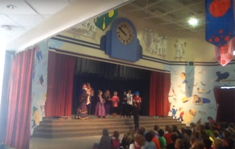Multicultural school assembly, Patton Elementary School, Arlington Heights, IL